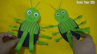 DIYs Paper Cricket Crafts For Kids -  How to make Paper Cricket Easy Crafts