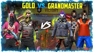 GRANDMASTER VS GOLD || BEST VS BEST HIGHLIGHTS || GARENA FREE FIRE