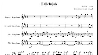 Video Hallelujah- Sax Quartet Cover + Sheet Music PDF (Leonard Cohen) download MP3, 3GP, MP4, WEBM, AVI, FLV Maret 2018