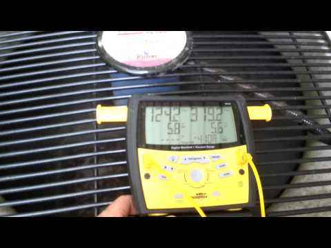 overcharged 410a Air conditioner