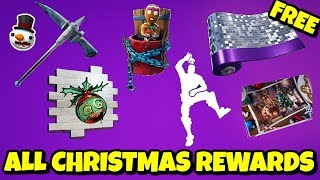 14 Days of Fortnite - ALL GRATUIT REWARDS: Pet, Wrap, Emote, Pickaxe, Backbling, Glider - Plus