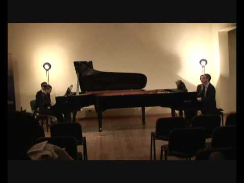 Prokofiev - Cinderella (2/5 Quarrel) - Macha Kanza and Matthieu Cognet, pianos