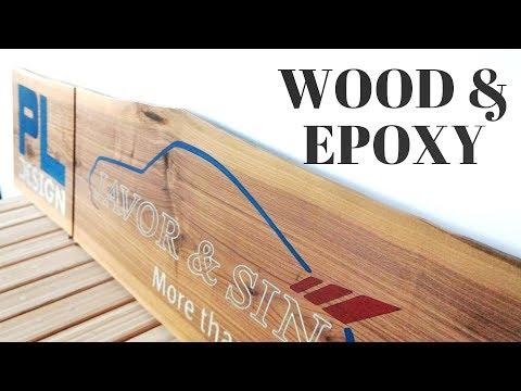 Wood \u0026 Epoxy resin wall signs