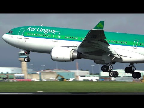 Busy Morning Plane Spotting At Dublin Airport - Up Close Arrivals And Departures- September 2018