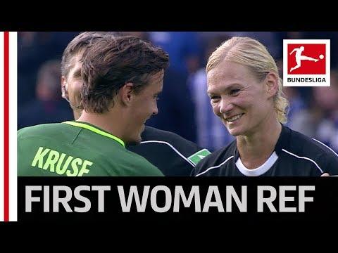 Bibiana steinhaus - top debut for bundesliga's first female referee