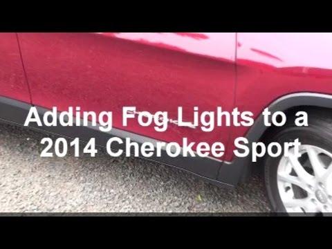 Installing Fog Lights on a 2014 Cherokee Sport - YouTube