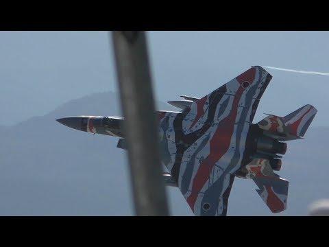 【小松基地航空祭 2018】離陸から激捻り!!! さすがアグレッサー 機動飛行 & 大編隊 予行 / KOMATSU AIR SHOW PRACTICE 20180903