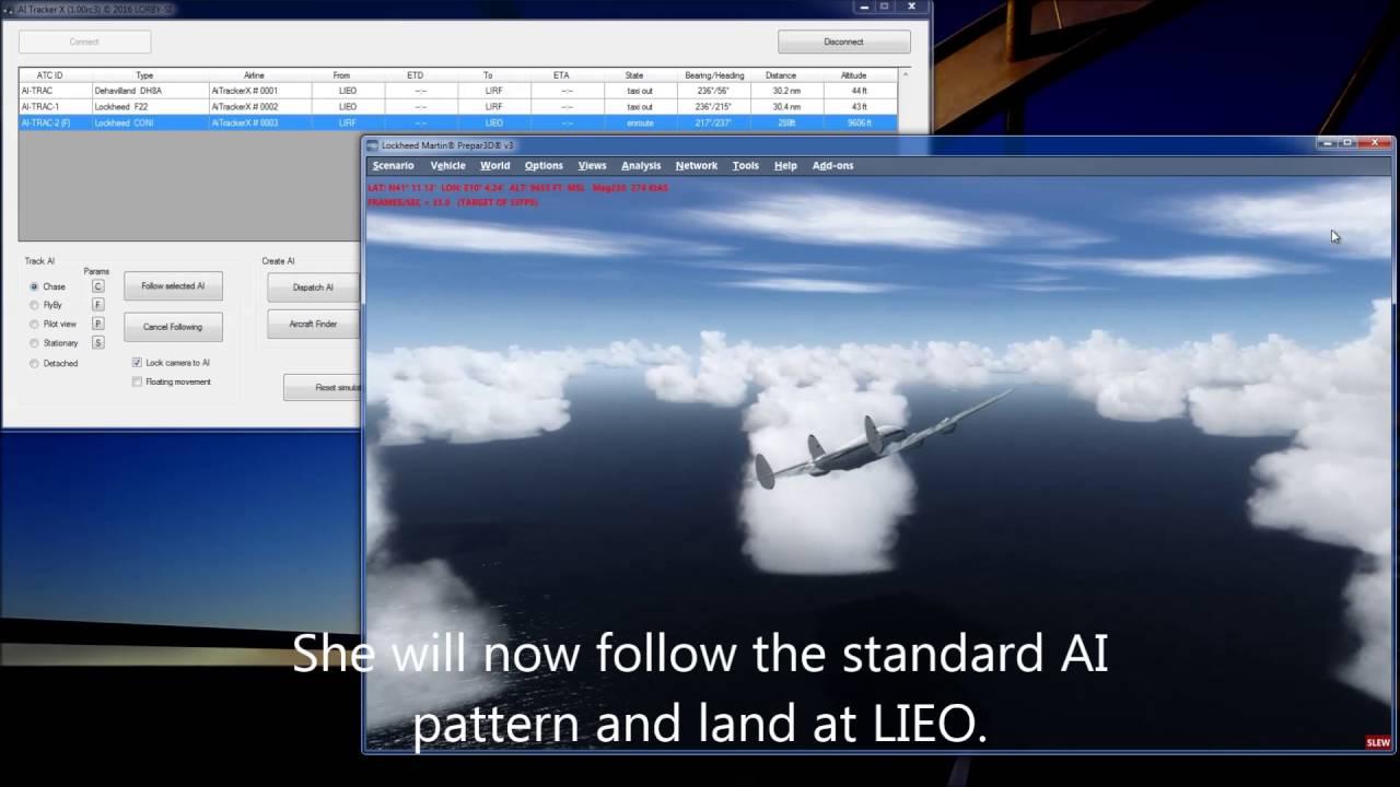 AiTracker X: Using flight plans for AI
