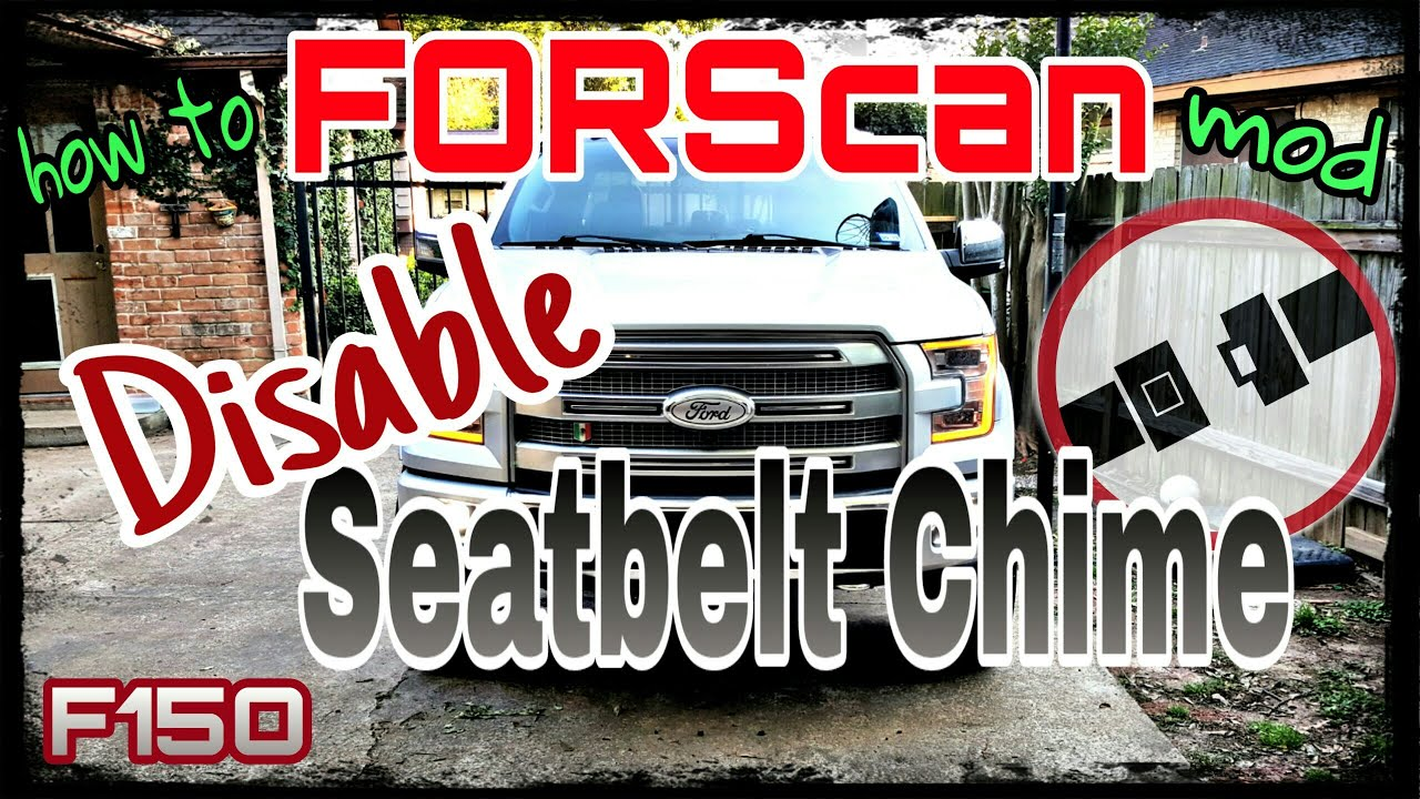 FORScan how to disable Seatbelt minder chime status off