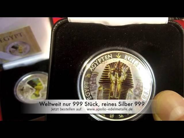 Silbermünze-Tutanchamun, weltweit nur 999 Stück, tolle Geschenkidee mit Wert