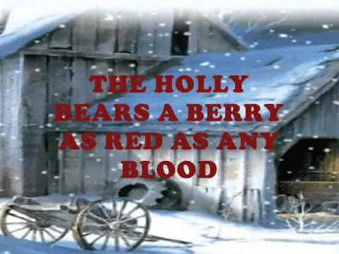 """""""THE HOLLY AND THE IVY"""" CHRISTMAS SONG WITH LYRICS"""