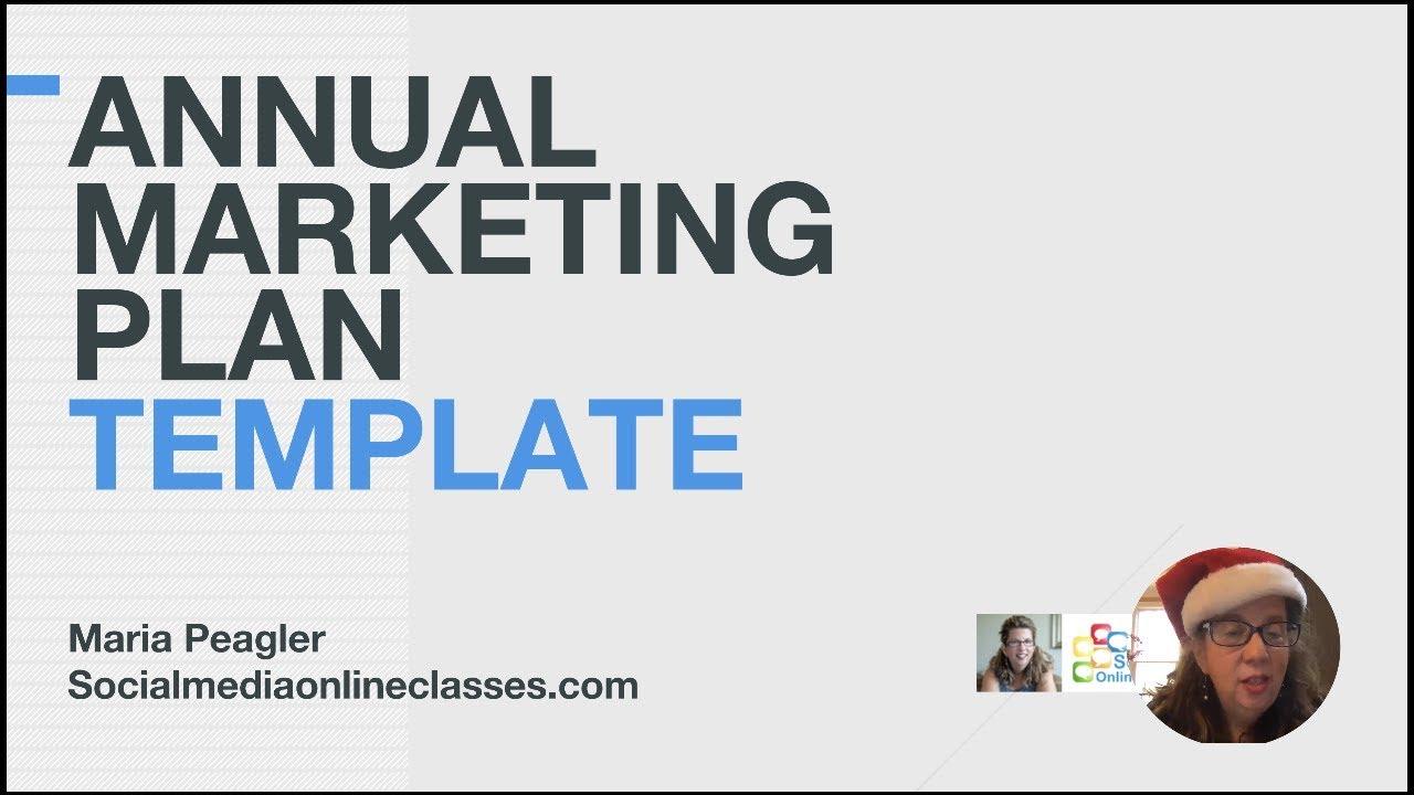 Annual Marketing Plan Template: Live Webinar + Recording +