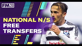 FM20 Free Transfers National North/South | Best Football Manager 2020 Free Transfers LLM