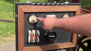 Antique Bessemer Generator Set Running at a Show
