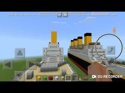 Я построил Титаник и Британник в майнкрафте