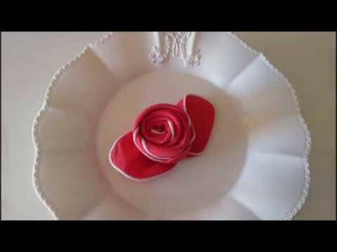 Piegare Tovaglioli A Rosa.Come Piegare Un Tovagliolo A Rosa