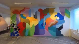 Gambar cover Oli-B - Wall painting at Adneom Brussels