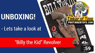 """Unboxing -  """"Billy the Kid"""" Revolver w/ Belt and Holster #4617"""