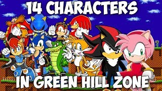 14 characters in Green Hill Zone