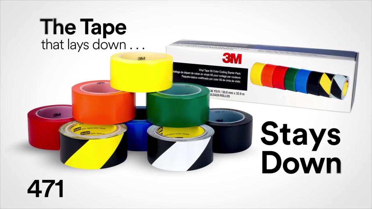 3m Vinyl Tape 471 Youtube