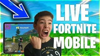 Fortnite mobile live chill 60 fps play with subs ipad player tips tips and tricks / Видео