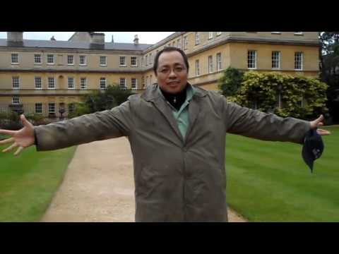 Visit London!   Trinity College Garden, Oxford University, London UK