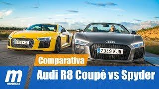 Audi R8 Coupé vs Audi R8 Spyder | Comparativa | Review en Español | Motor.es