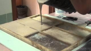 Изготовление искусственного камня из смеси