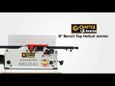 """Craftex CX-Series  8"""" Bench Top Helical Jointer CX08BTHC"""