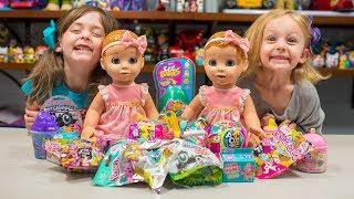 HUGE Surprise Luvabella Dolls Toys Precious Unicorn Shopkins Blind Bags Surprise Egg Kinder Playtime