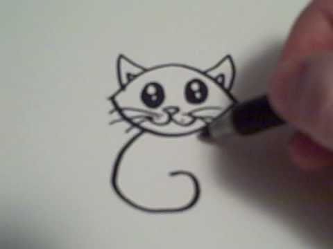 How to Draw a Cartoon Cat   YouTube How to Draw a Cartoon Cat