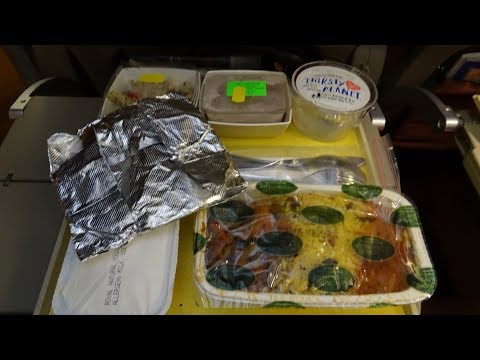 Aeroplane In-Flight Food abroad Jet Airways - Going to India! (read description below for more Info)
