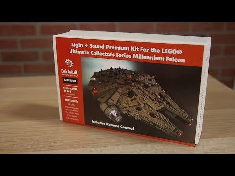 BrickNerd Brief - Adding Brickstuff lights and sound to the UCS Falcon