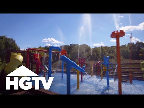 How To Build A Backyard Water Park backyard water adventure - hgtv - youtube