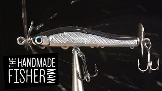 Making Hard Plastic Fishing Lures on the Lathe Part 2 Spybait