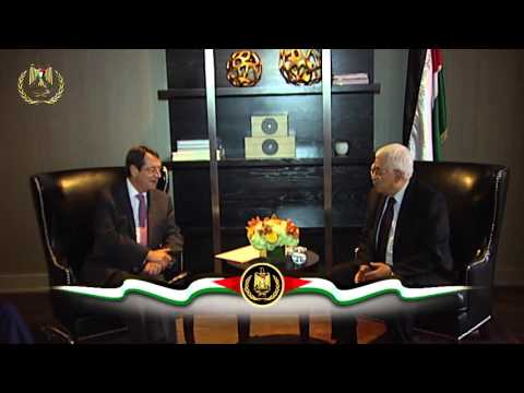 President Abbas meets president of Cyprus Nicos Anastasiades