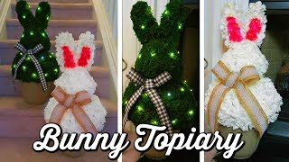DOLLAR TREE DIY | EASTER BUNNY TOPIARY 🐰
