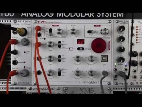 Waldorf NW1 User Wavetable Tutorial and Demo