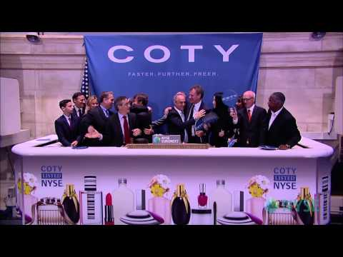Global Beauty Company Coty Makes Public Debut on the NYSE