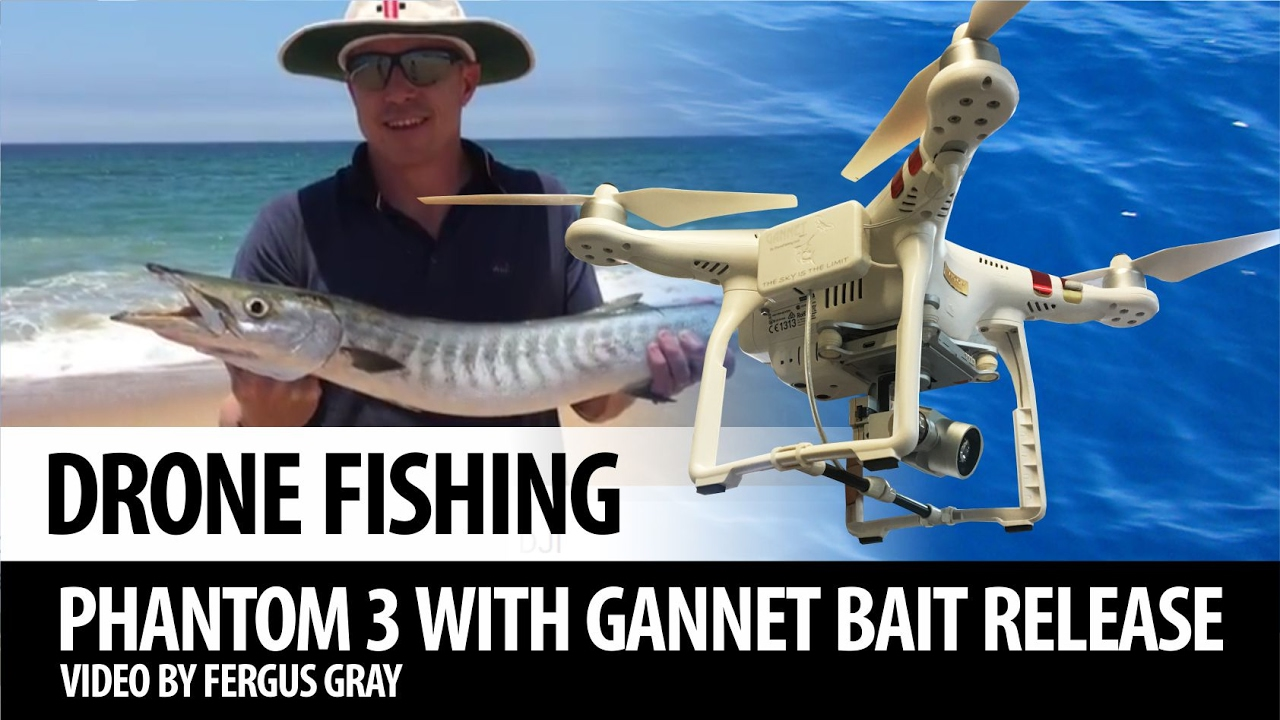 Drone fishing phantom 3 with gannet bait dropper youtube for Drone fishing line release