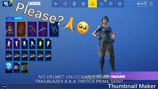 Can Fortnite Make An Unlockable Style For Twitch Prime Skin? (trailblazer)