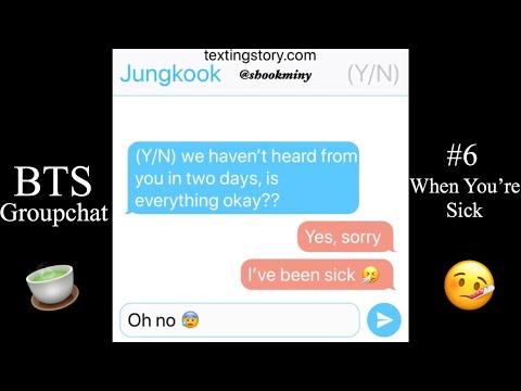 Repeat BTS Texting Story ~Sick lIttle~ (Littlespace) by