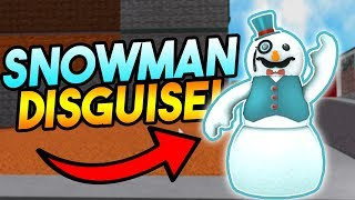 SNOWMAN DISGUISE TROLLING! | ROBLOX: Super Power Trainingssimulator
