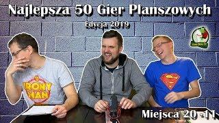 Najlepsza 50 Gier Planszowych | 20-11 | Edycja 2019