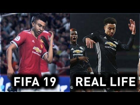 FIFA 19 NEW CELEBRATIONS VS REAL LIFE