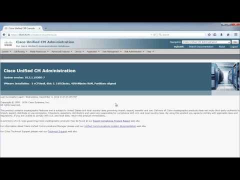 CICD 1.0: Cisco Unified Communications Manager Administrator Interfaces