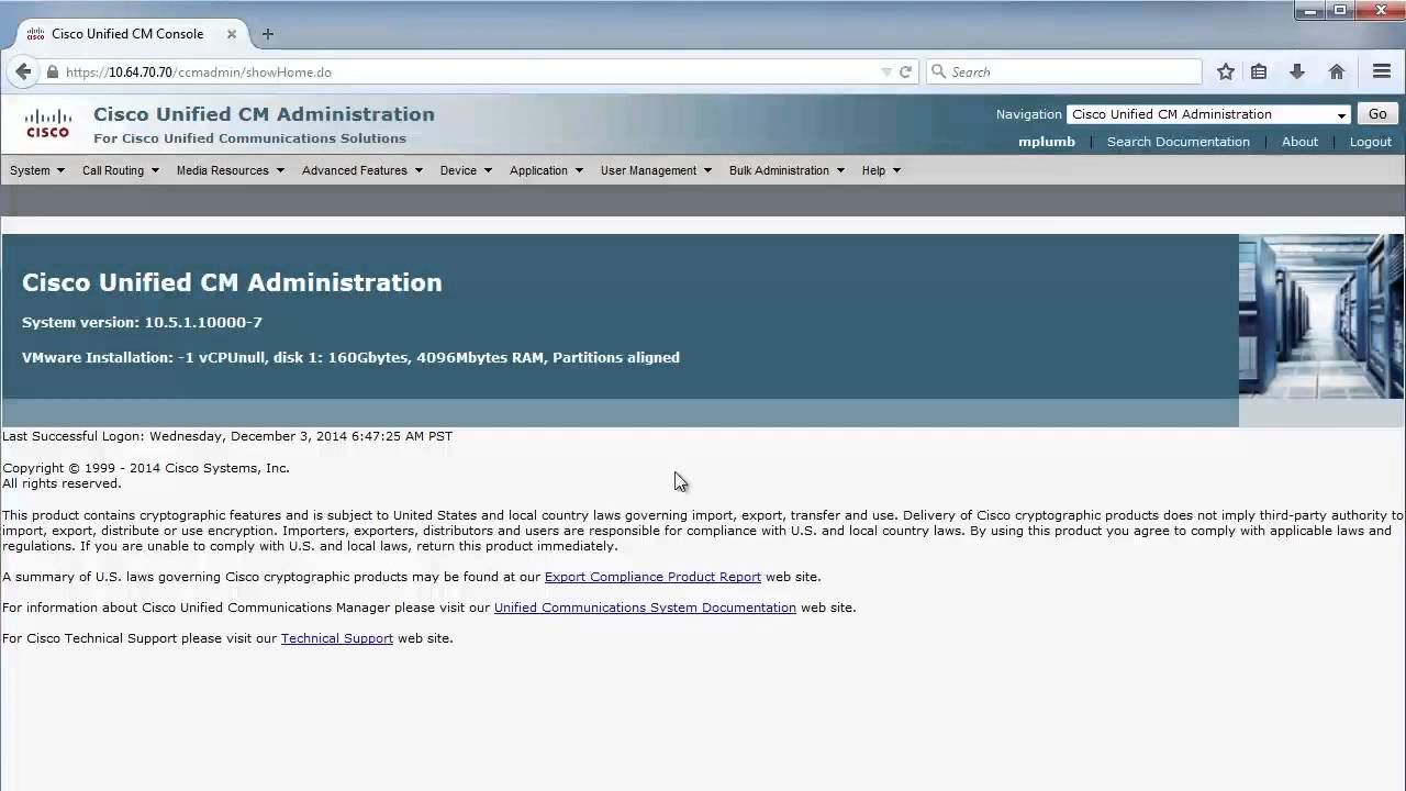 CICD 1 0: Cisco Unified Communications Manager Administrator Interfaces
