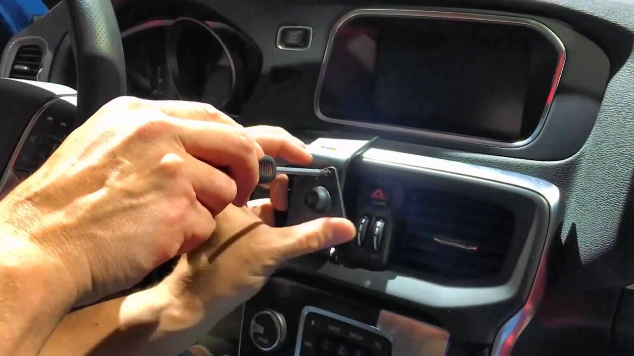 Brodit telefoonhouder iPhone 5C - Volvo V40 - YouTube