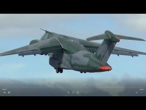 Rare military jet - Embraer KC-390  transport aircraft