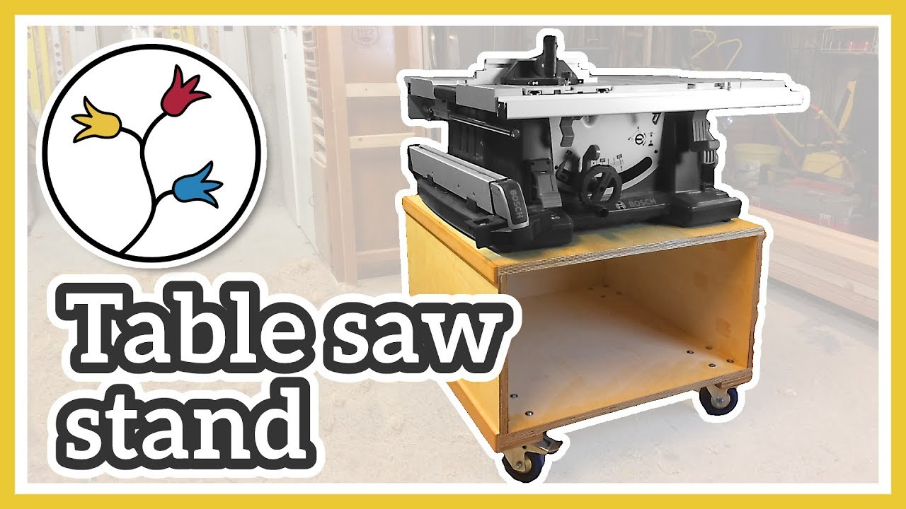 Mobile table saw stand make a table saw cart for the for Table stand i 52 compose